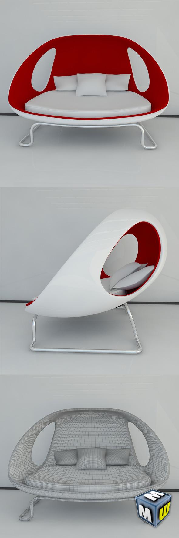 3DOcean Modern Sofa Gefeva MAX 2011 5111080