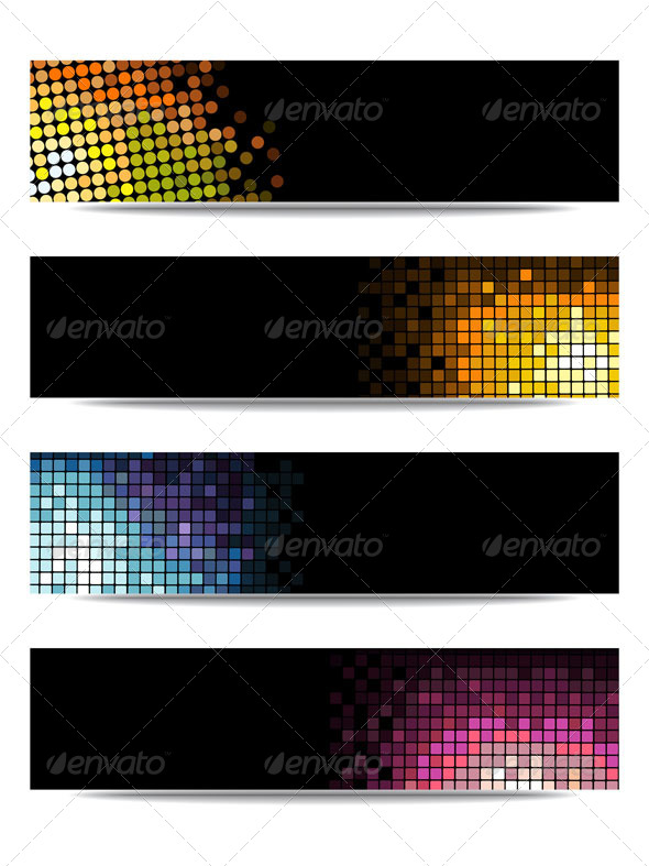 GraphicRiver Colorful Vector Set of Three Header Designs 5111081