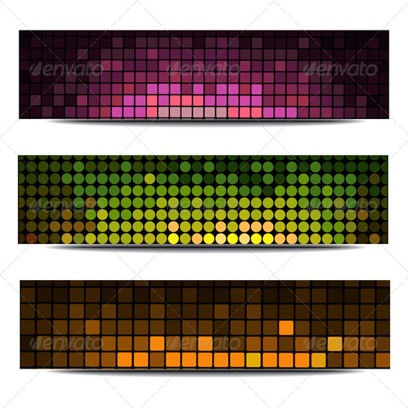 GraphicRiver Abstract Header Vector Set 5111085