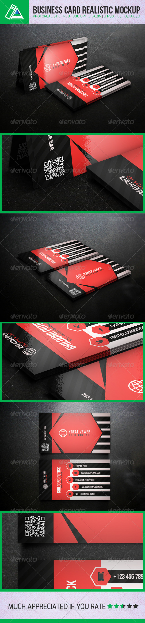 GraphicRiver Business Card Mockups 01 5111093