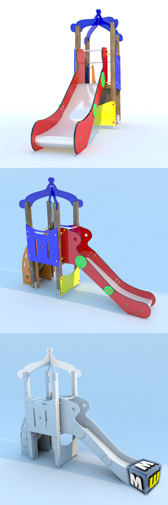 Playground FunTower Baby 1 - 3DOcean Item for Sale