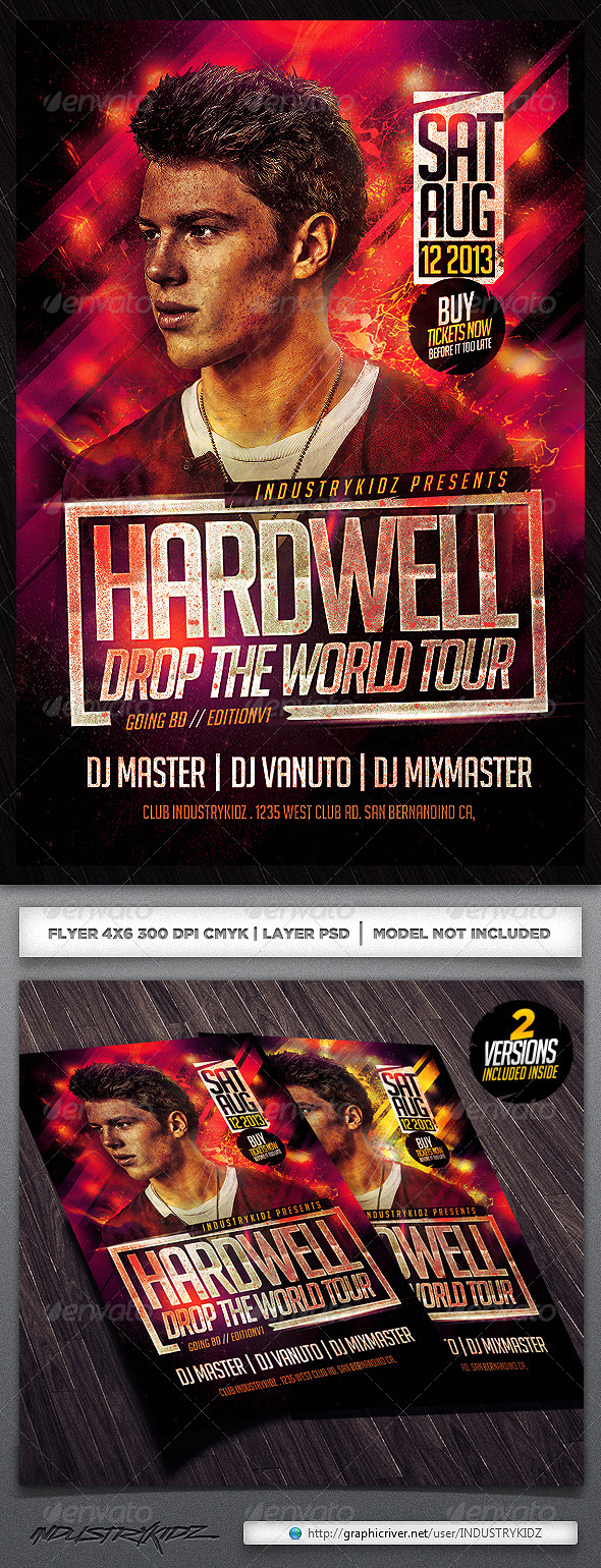 GraphicRiver Electro Dj Flyer Template 5047539