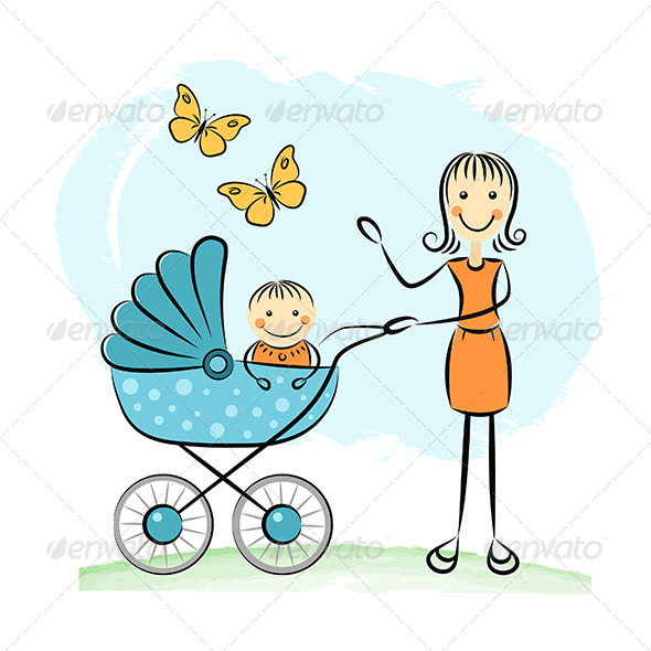 GraphicRiver Mother and Baby 5111644