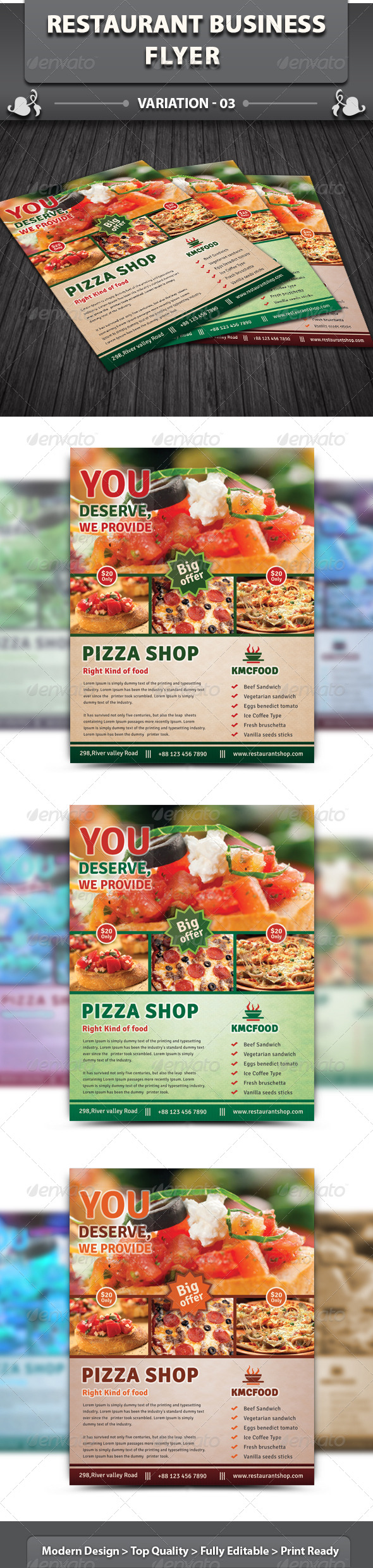 Restaurant Business Flyer | Volume 8 - Restaurant Flyers