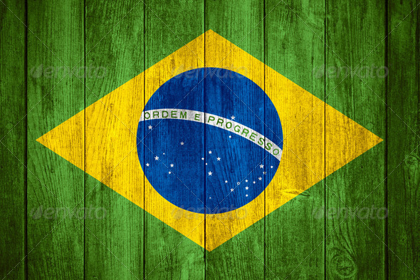 Brazil flag - Stock Photo - Images