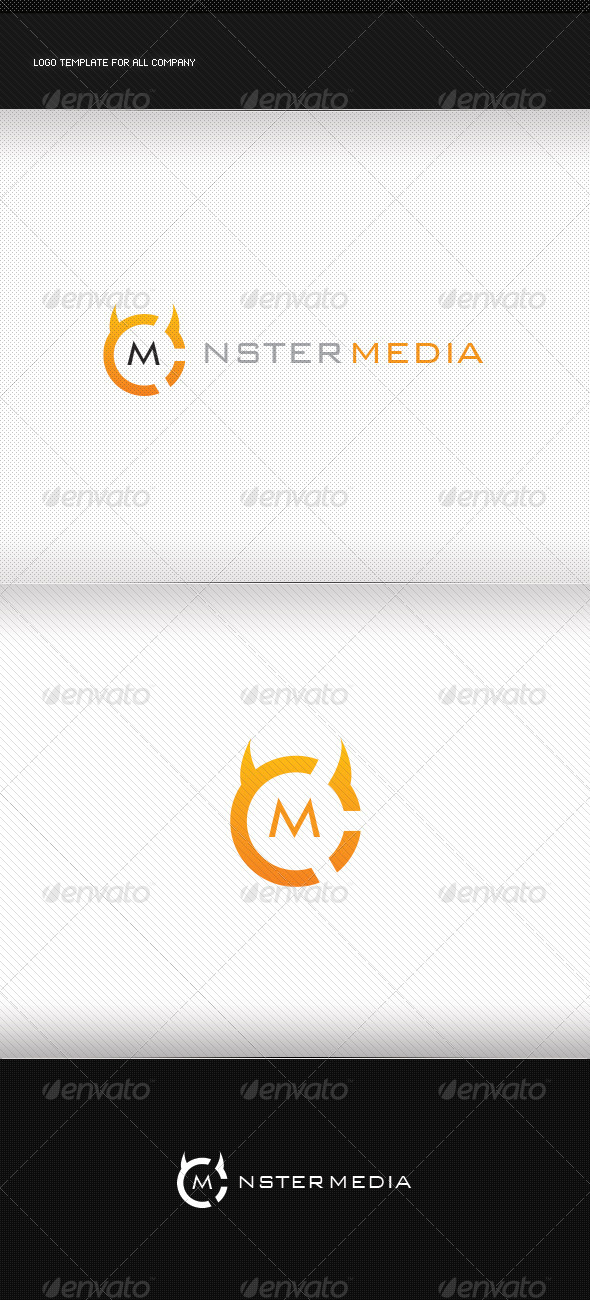 GraphicRiver Monster Media Logo 5099194