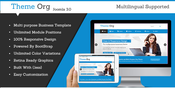 ThemeForest Theme-Org Responsive Multi-Purpose Joomla Theme 5113392