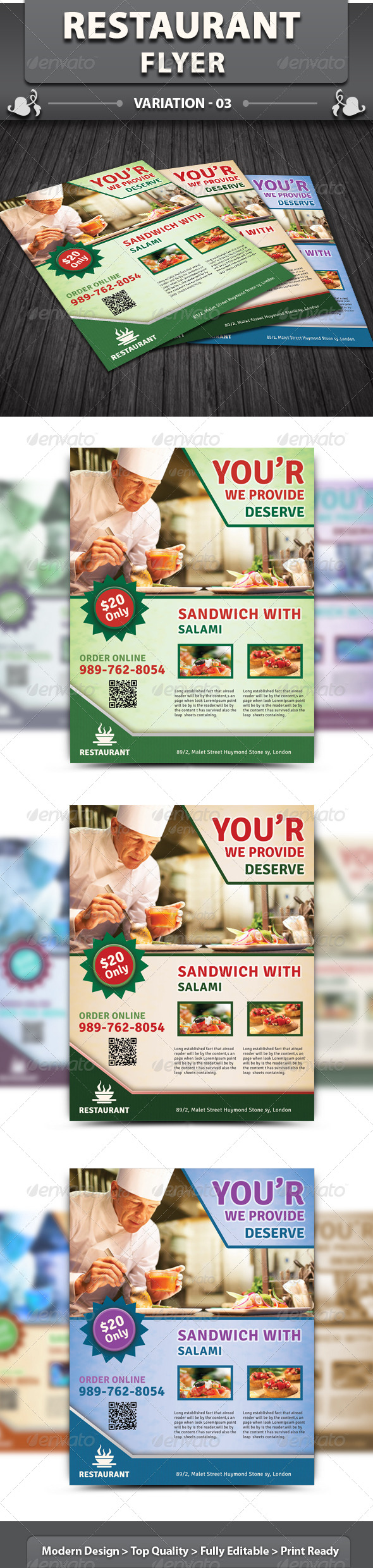 GraphicRiver Restaurant Flyer 5113725