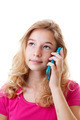 Girl is calling on mobile phone - PhotoDune Item for Sale