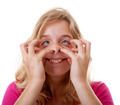 girl makes funny face in closeup - PhotoDune Item for Sale