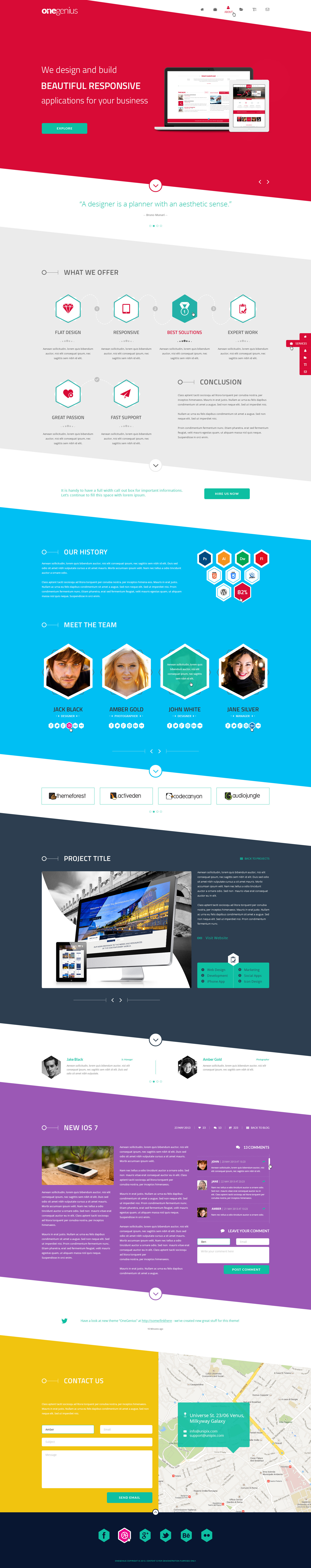onegenius one page flat portfolio psd template by andig themeforest. Black Bedroom Furniture Sets. Home Design Ideas