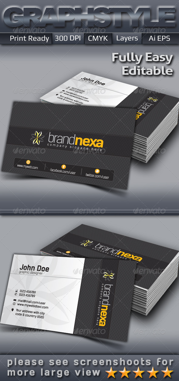 GraphicRiver Brandnexa Business Card 5113842