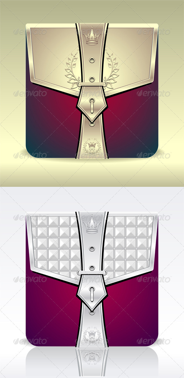 GraphicRiver Folder Icon with Crown Leaves 5113897