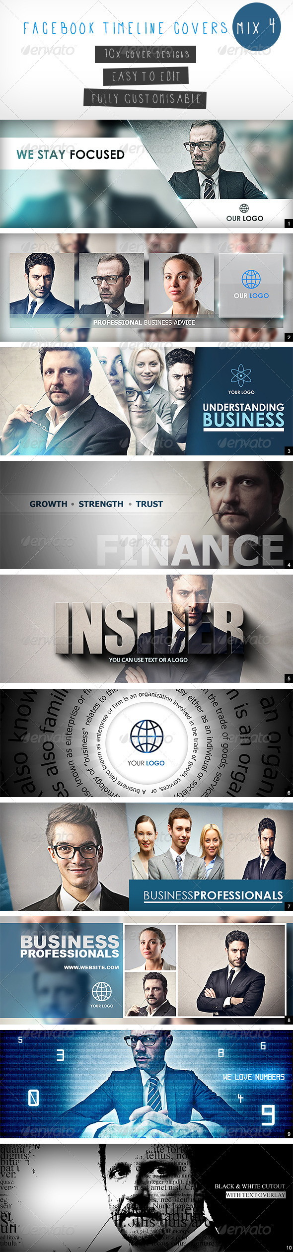 GraphicRiver Facebook Timeline Covers Mix 4 5113907