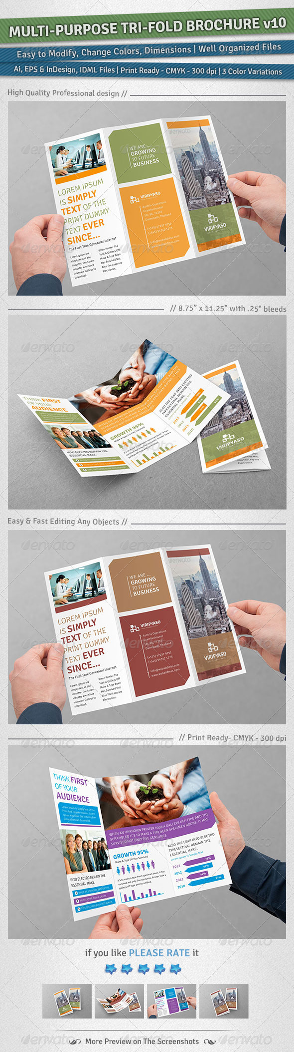 GraphicRiver Multi-purpose Tri-Fold Brochure Volume 10 5114050