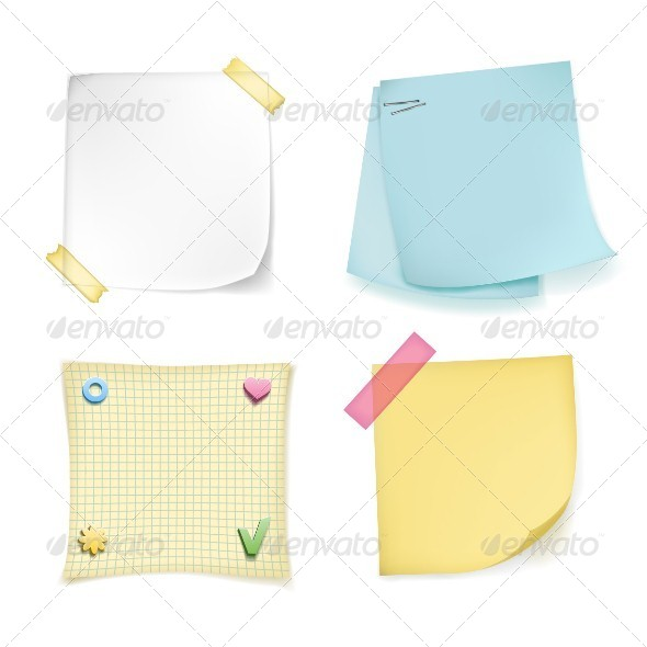 GraphicRiver Note Papers Set 5114053