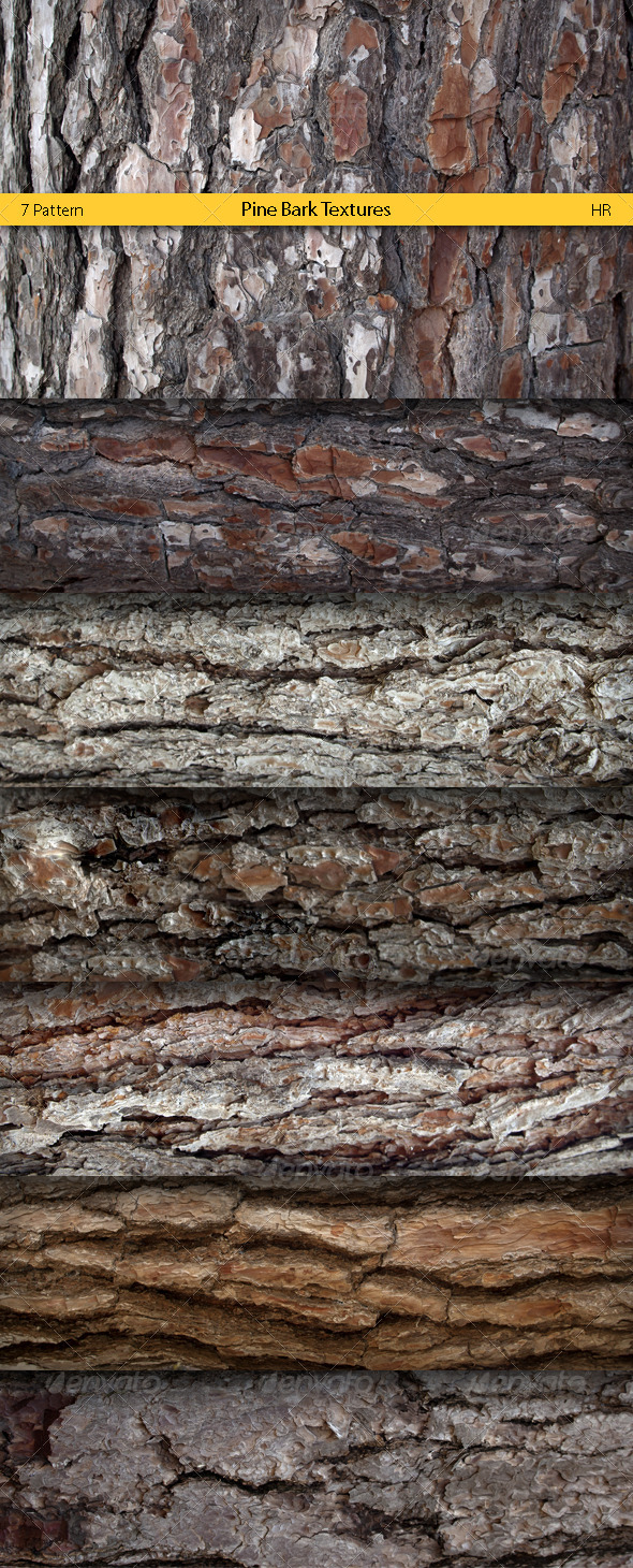 3DOcean Pine Bark Surface Textures 5114273