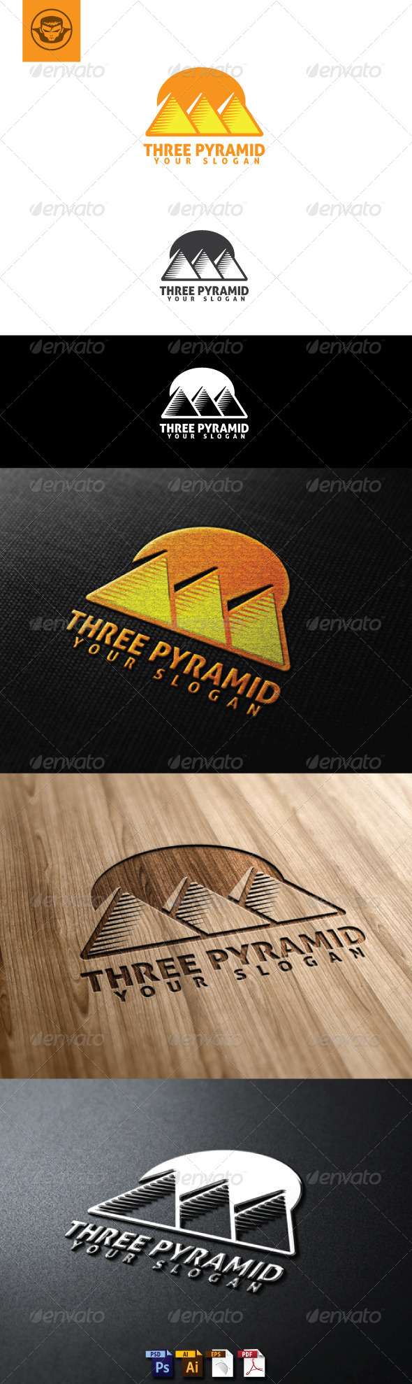GraphicRiver Three Pyramid Logo Template 5102487
