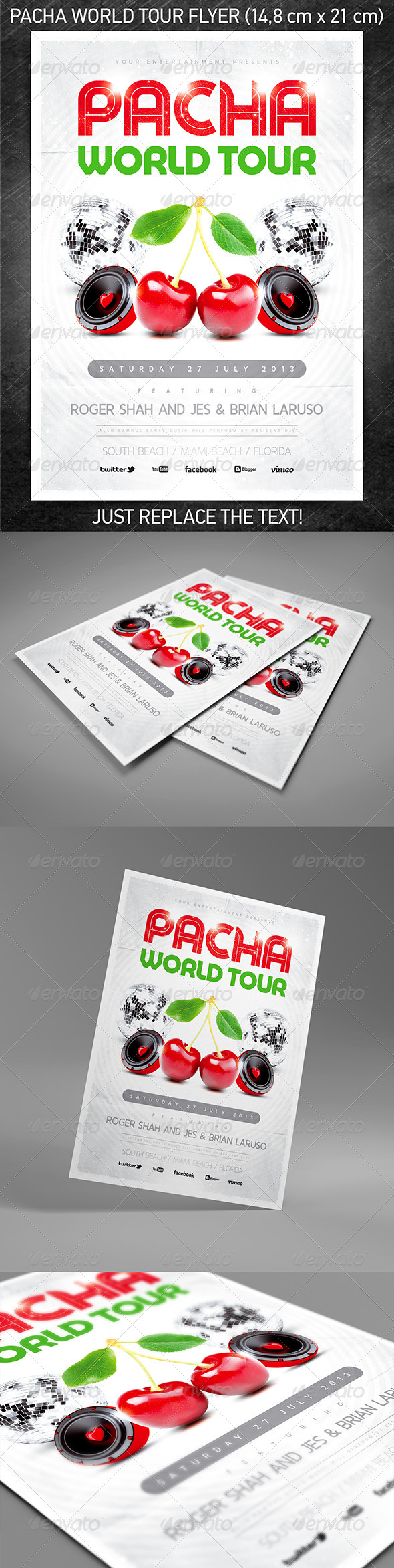 GraphicRiver Pacha World Tour Party Flyer 5115145