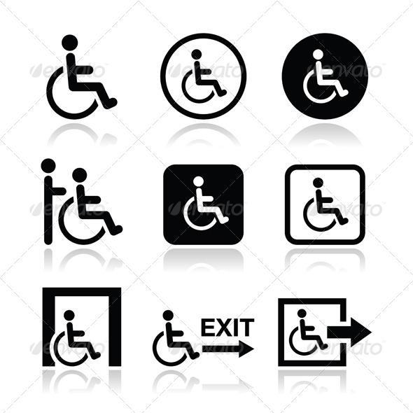 GraphicRiver Handicap Icons 5115150