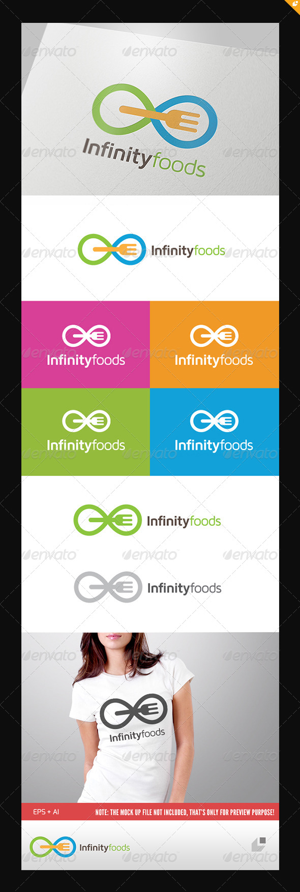 GraphicRiver Infinity Foods Logo 5100086