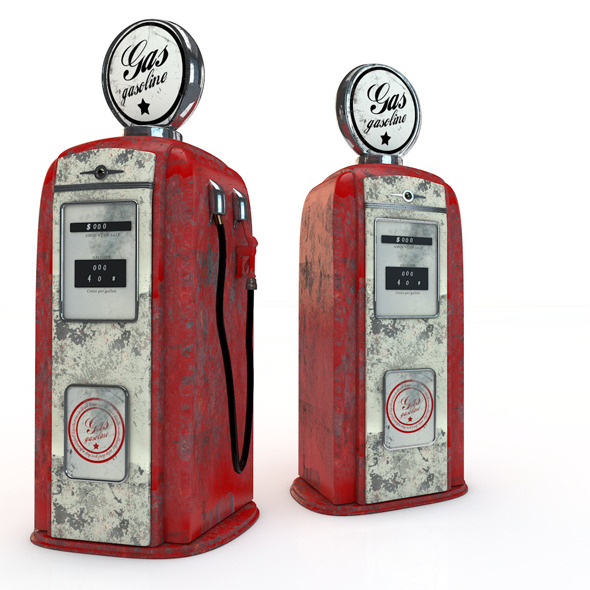 Vintage Gas Pump - 3DOcean Item for Sale