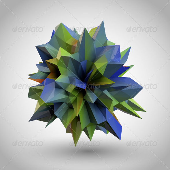 GraphicRiver Abstract Crystal 5115576