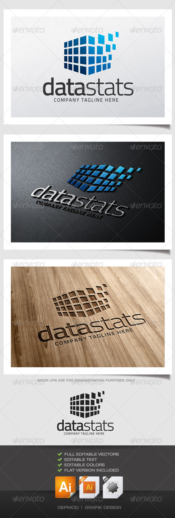 GraphicRiver Data Stats Logo 5115743