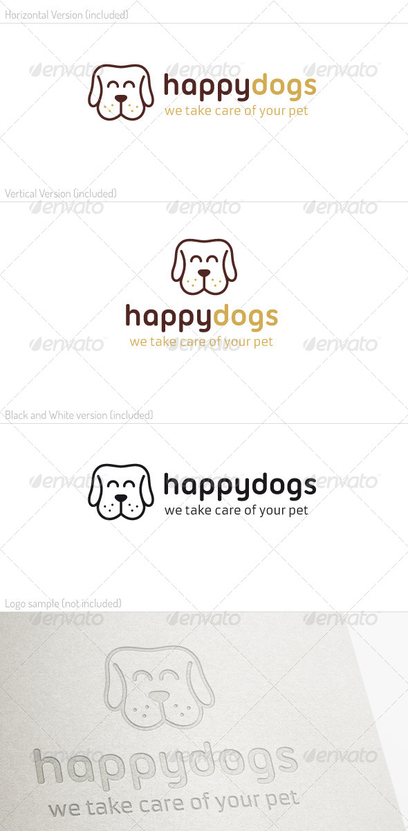 Happy Dog Logo
