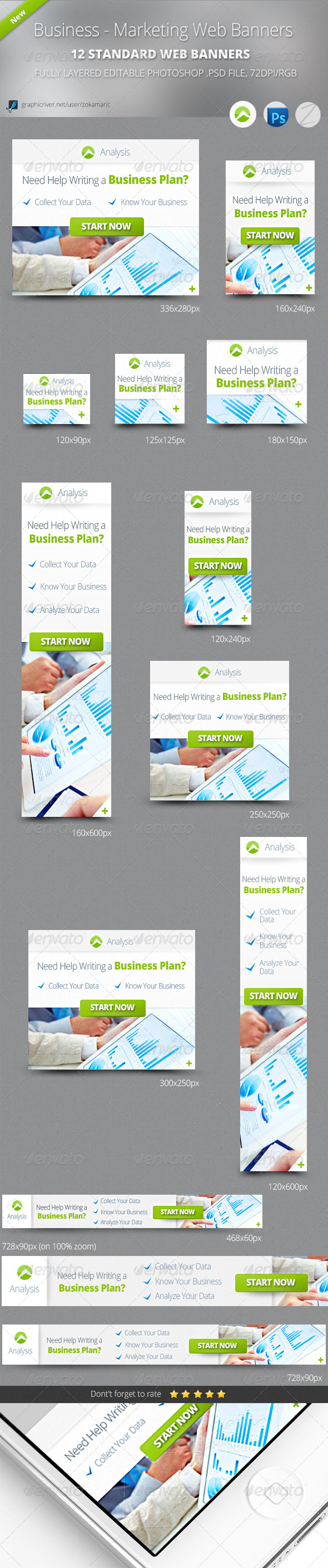 Business - Marketing Web Banners - Banners & Ads Web Elements