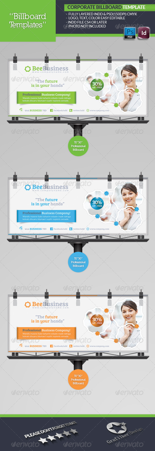 GraphicRiver Corporate Billboard Template 5115991