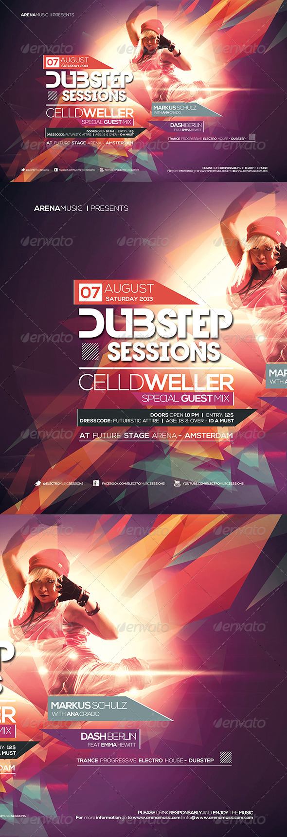 GraphicRiver Dubstep Flyer Template Vol 3 5116041