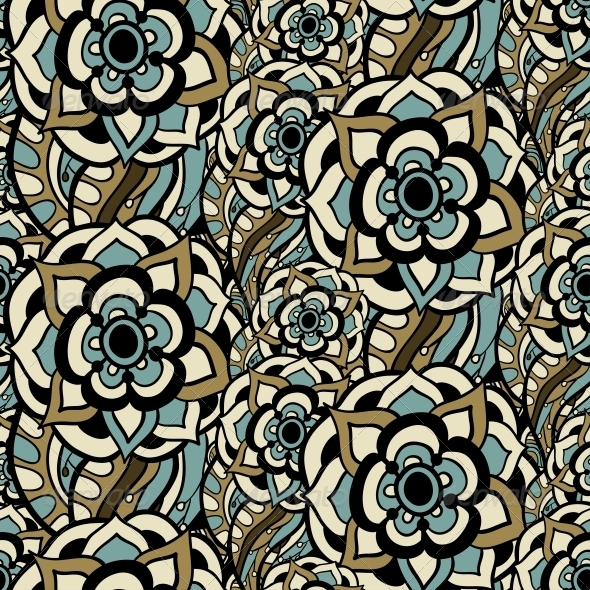 GraphicRiver Vintage Floral Seamless Pattern 5116148
