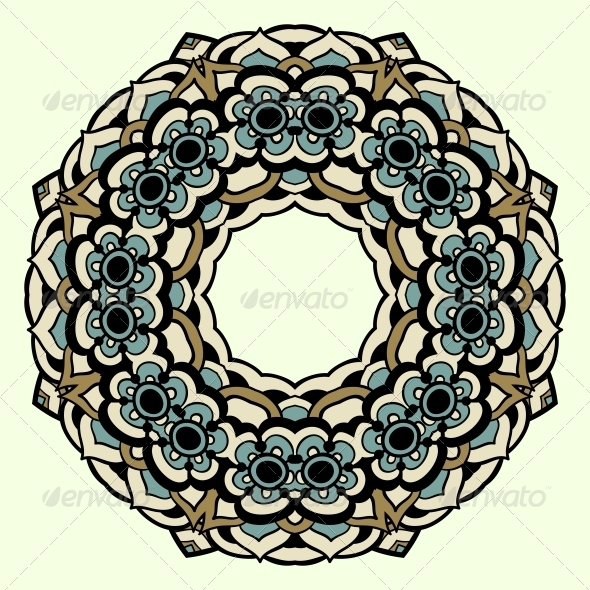 GraphicRiver Circle Ornament Ornamental Round Lace 5116157