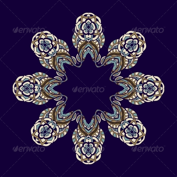 GraphicRiver Circle Ornament Ornamental Round Lace 5116190