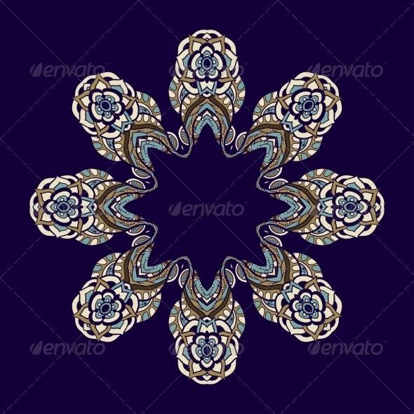 GraphicRiver Circle Ornament Ornamental Round Lace 5116190