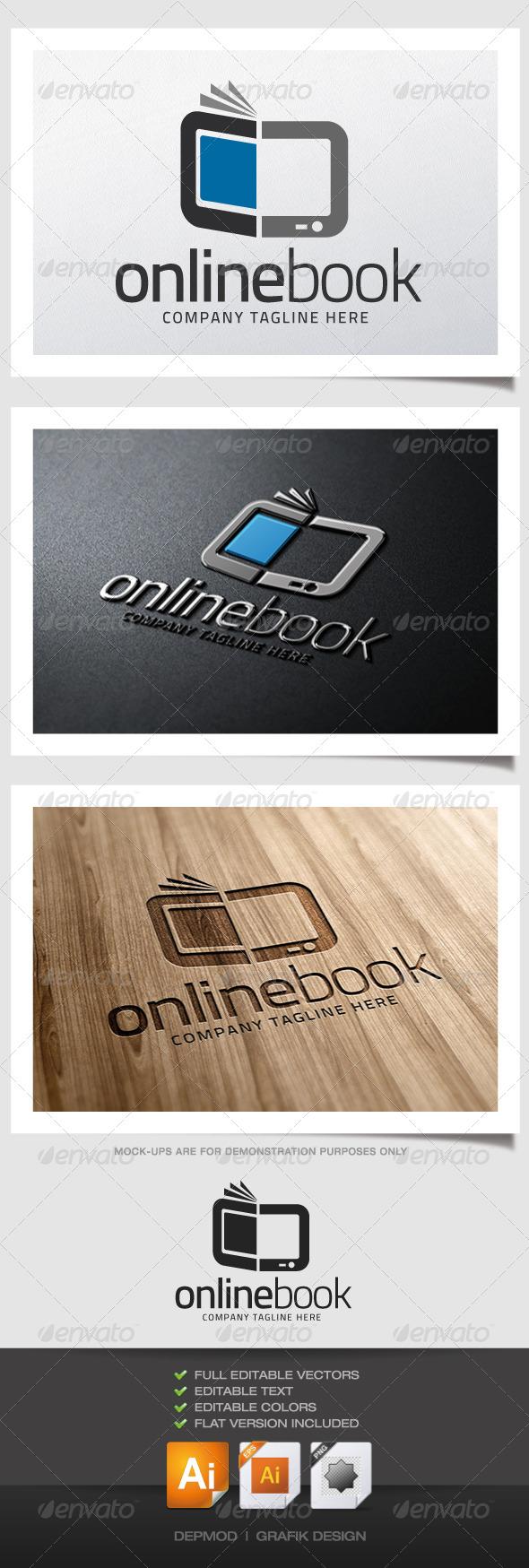 GraphicRiver Online Book Logo 5116203