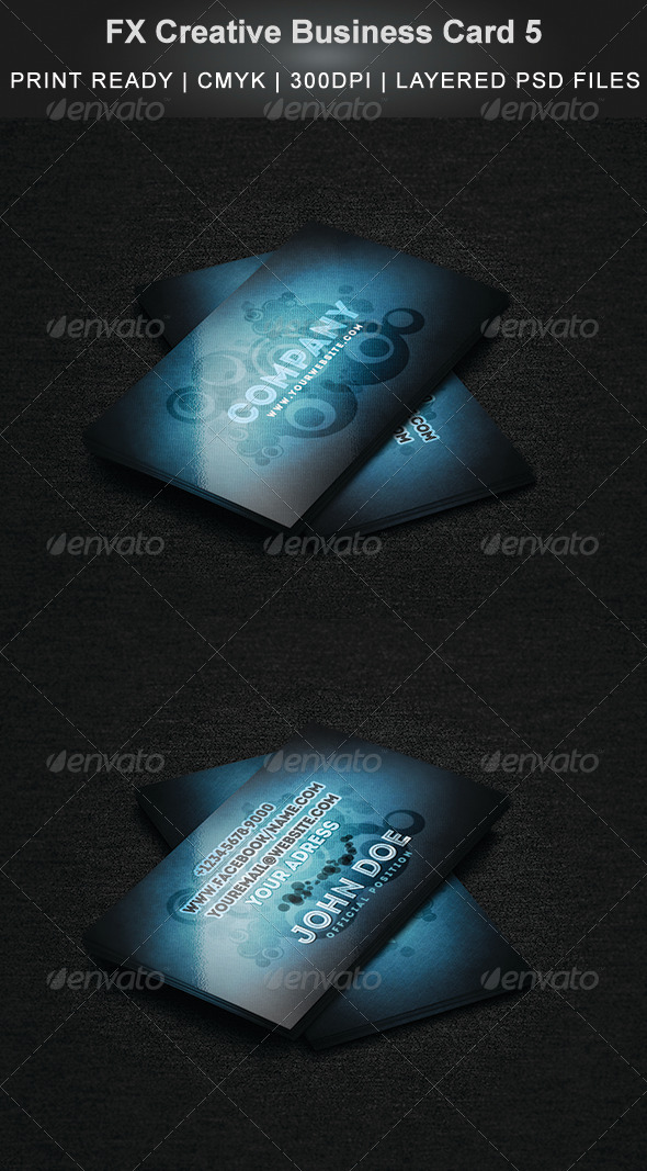 FX Creative Business Card 5 - Business Cards Print Templates