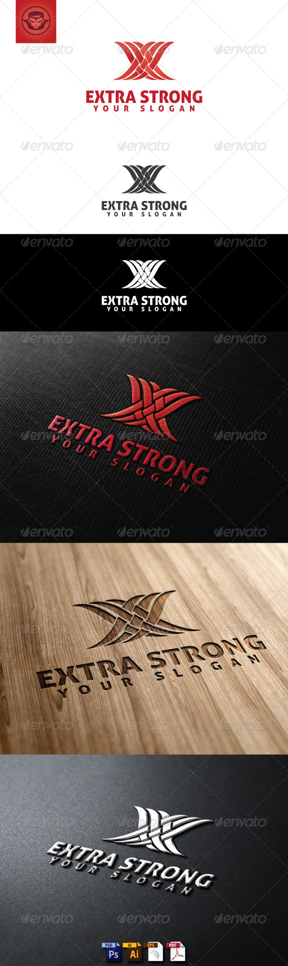 GraphicRiver Extra Strong Logo Template 5107306