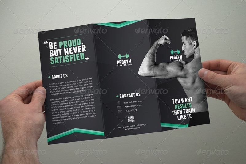 Fitness brochure tri fold by coxsumon graphicriver for Fitness brochure template