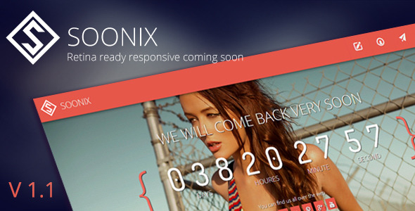 Soonix | Responsive Coming Soon Template