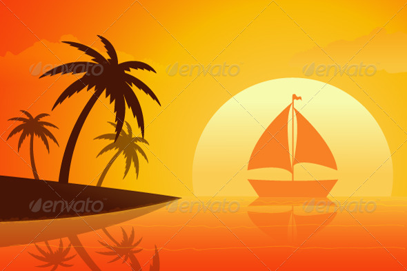 GraphicRiver Summer Sunset 5117091