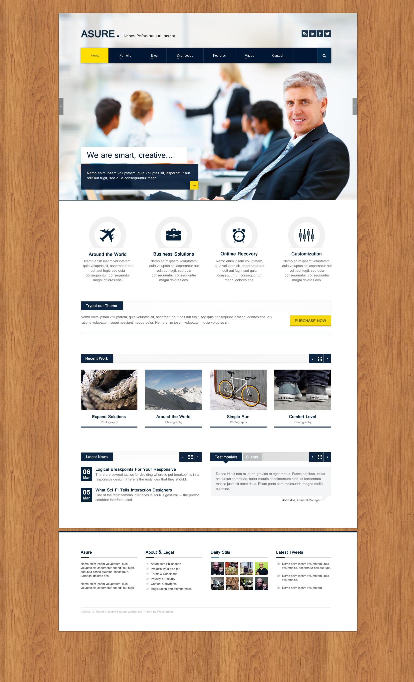 ASURE - Multi-Purpose Wordpress Theme