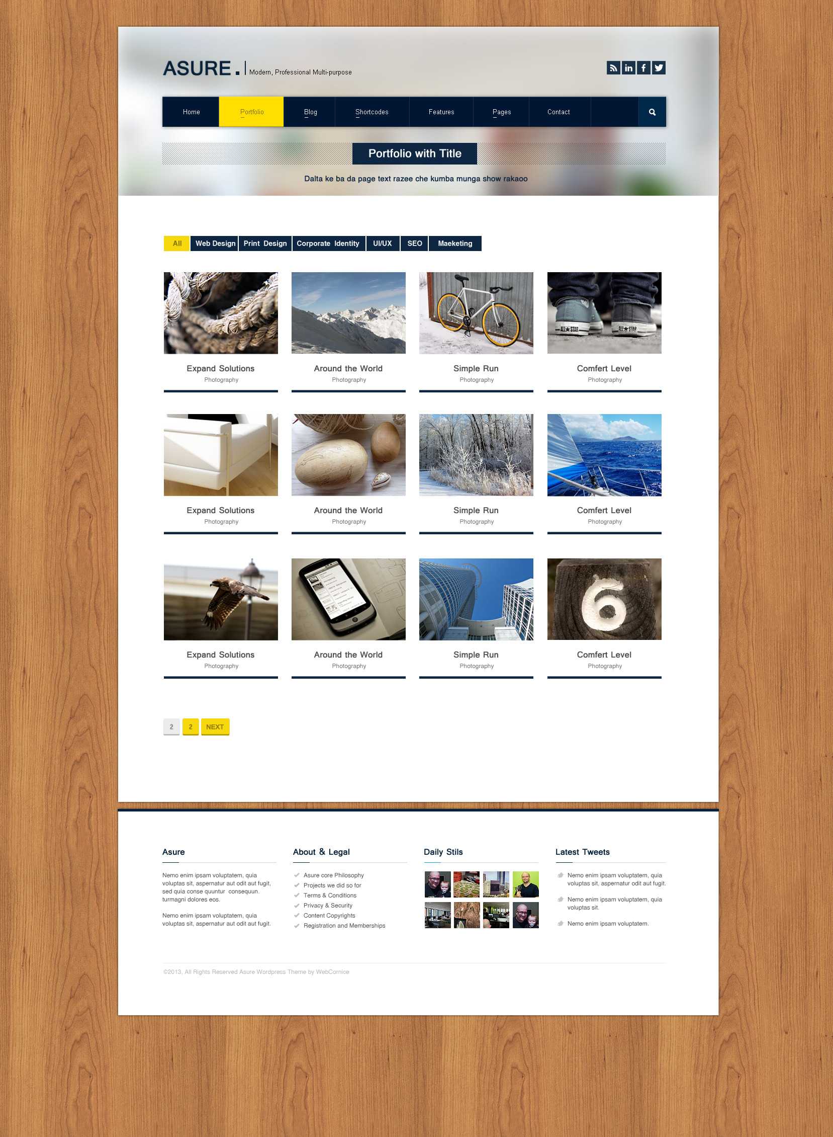 ASURE - Multi Purpose Wordpress Theme