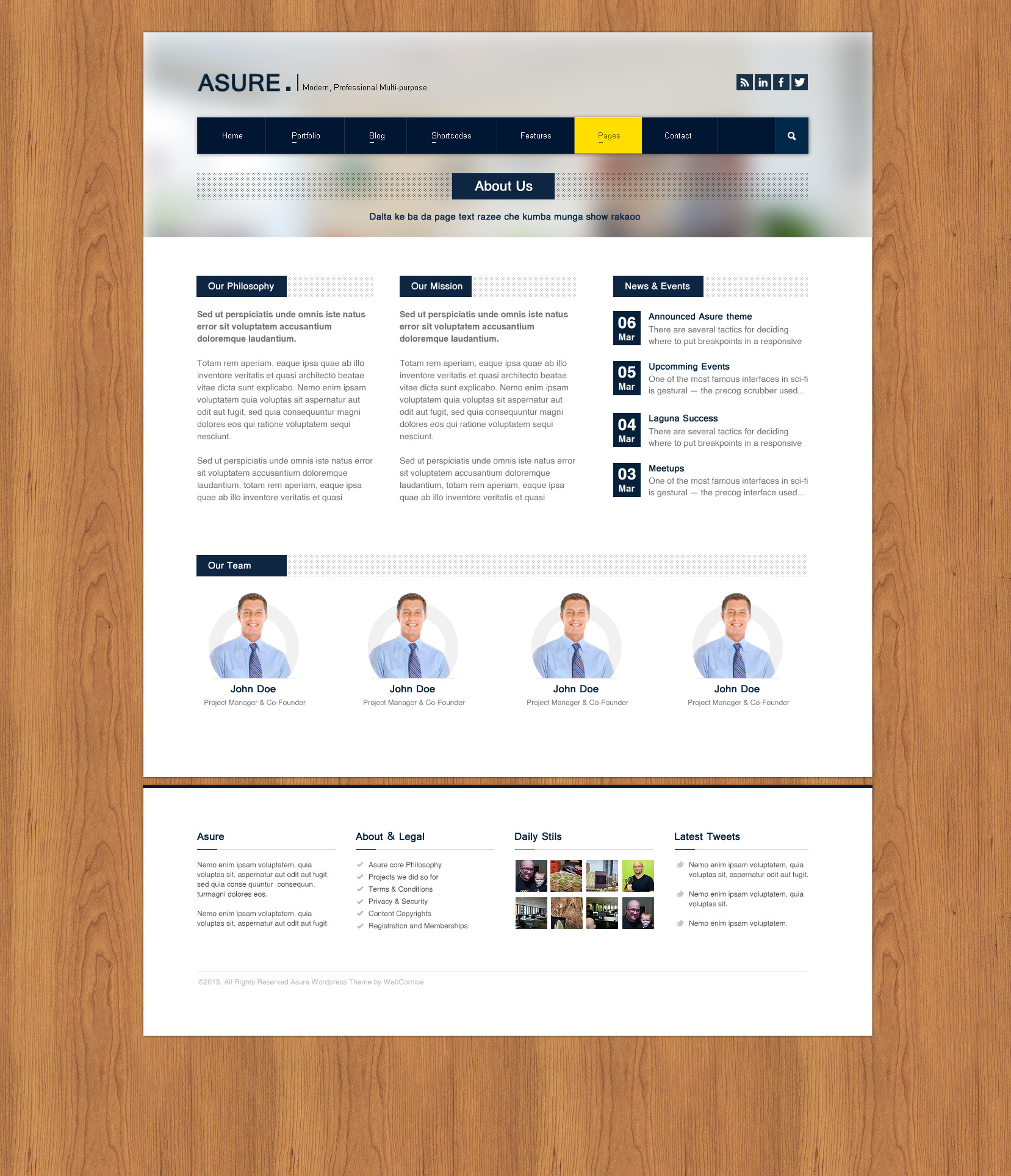 ASURE - Multi-Purpose Wordpress Theme