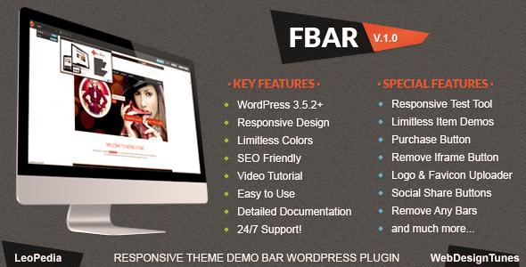 CodeCanyon FBar Responsive WordPress Demo Switch Bar Plugin 5117122