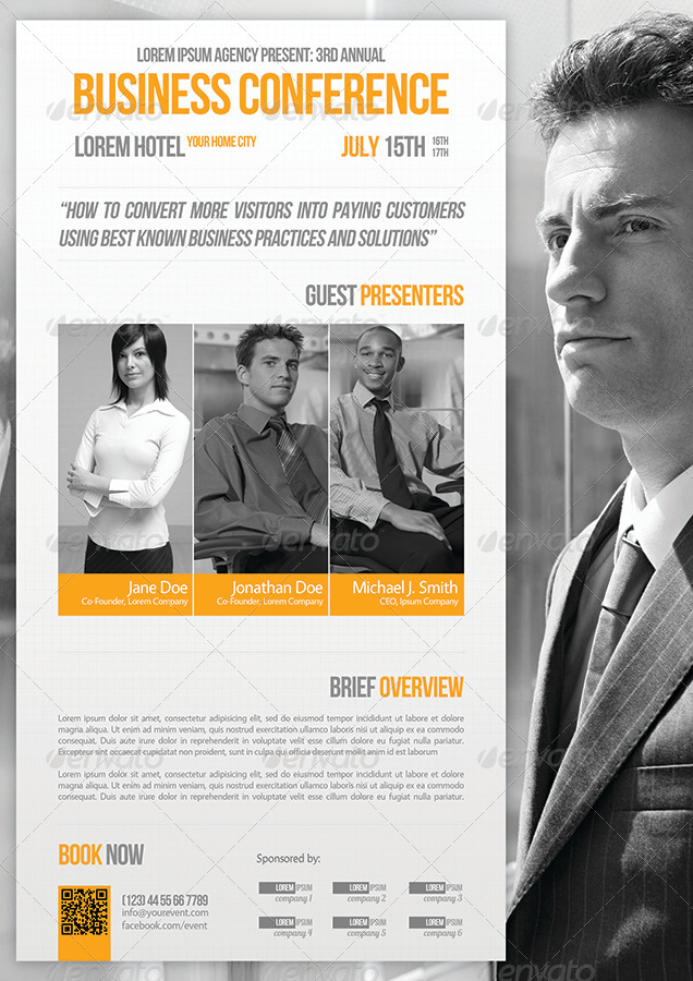 business conference flyer template 07 by petumdesign