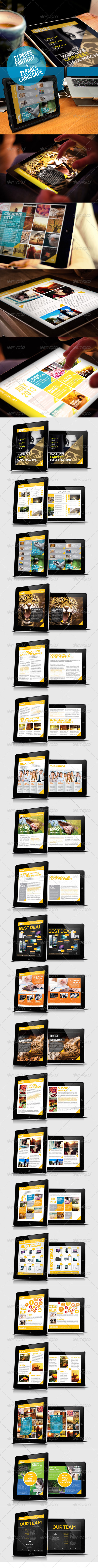 Ingmagz Tablet Magazine Template - Digital Magazines ePublishing