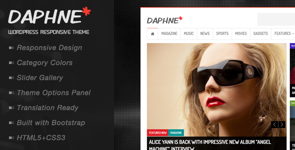 ThemeForest Daphne WordPress Responsive News Theme 5072137