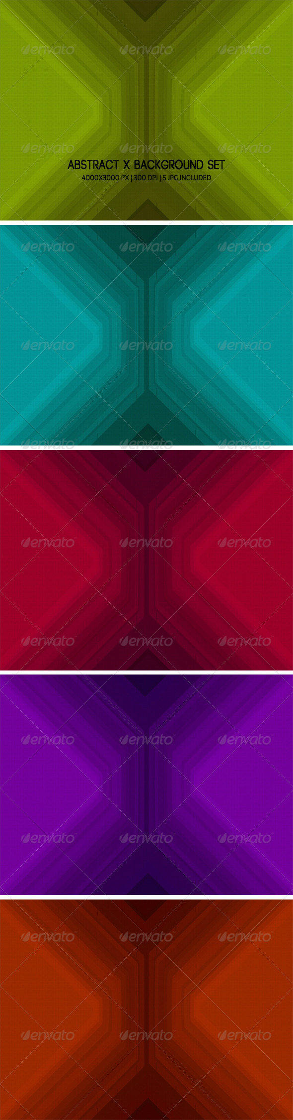 GraphicRiver Abstract X Background Set 5117837